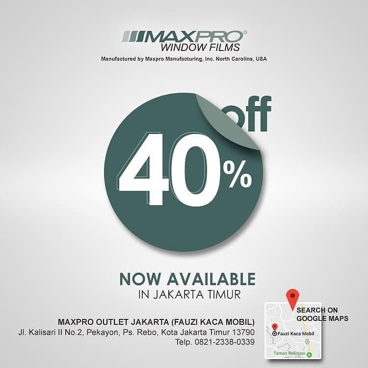 Maxpro Window Films Promo Poster